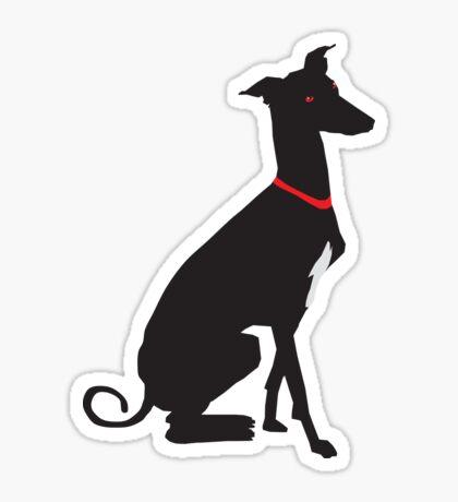 greyhound (vector) Sticker