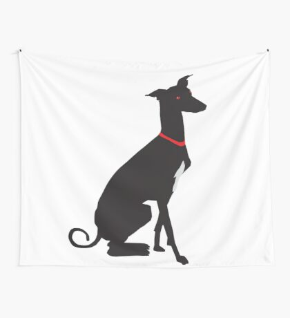 greyhound (vector) Wall Tapestry