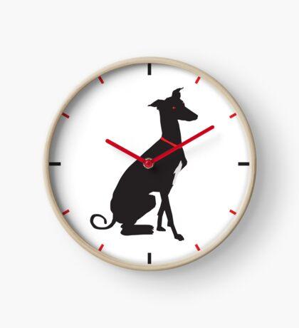 greyhound (vector) Clock
