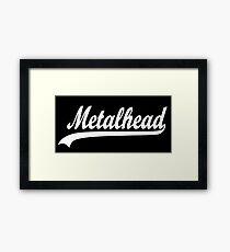 METAL HEAD Framed Print