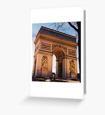 Crépuscule à l'Arc de Trimophe, Paris Greeting Card