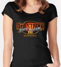 Street Fighter III: 3rd Strike - Fight for the Future logo Women's Fitted Scoop T-Shirt