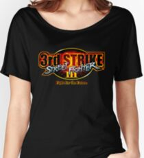 Street Fighter III: 3rd Strike - Fight for the Future logo Women's Relaxed Fit T-Shirt