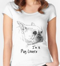 PUG LOVERS DESIGN 2017 Women's Fitted Scoop T-Shirt