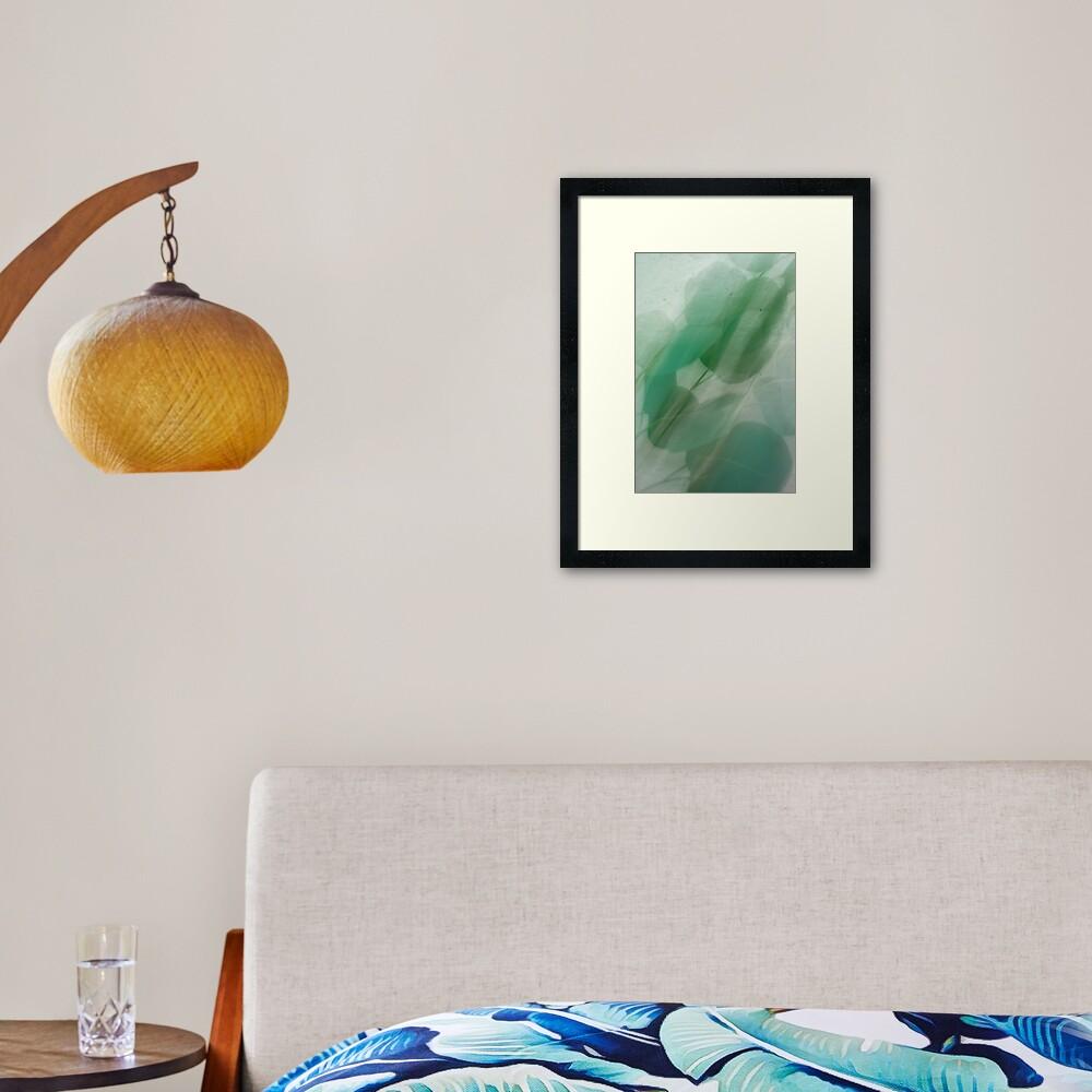 Fleur Blur Series-Abstract Eucalyptus Leaves Framed Art Print