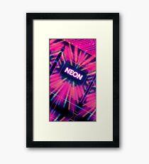 Neon Vortex Framed Print