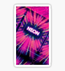 Neon Vortex Sticker