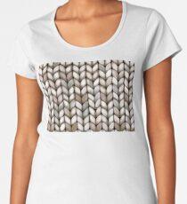 Chunky Latte Knit Women's Premium T-Shirt