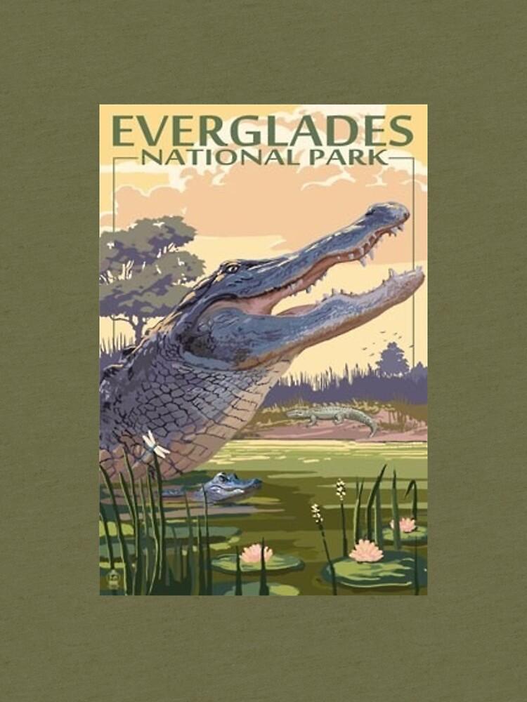 Everglades National Park Alligator Vintage Travel Decal by MeLikeyTees