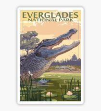 Everglades National Park Alligator Vintage Travel Decal Sticker