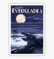 Everglades National Park at Night Vintage Travel Decal Sticker Sticker
