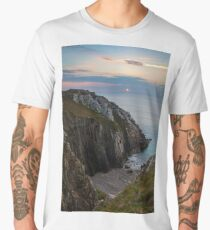Sunset Seascape France Men's Premium T-Shirt