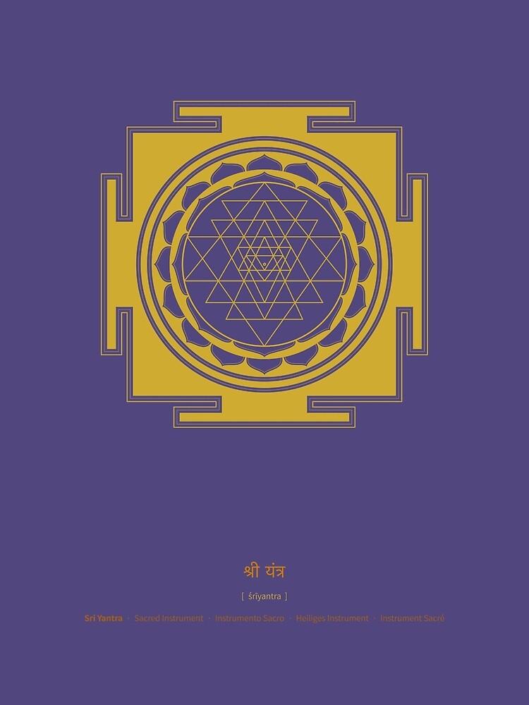 Sri Yantra Mandala by Thoth-Adan