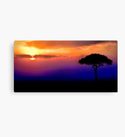 Sunset Over Masai Mara, Kenya III Canvas Print