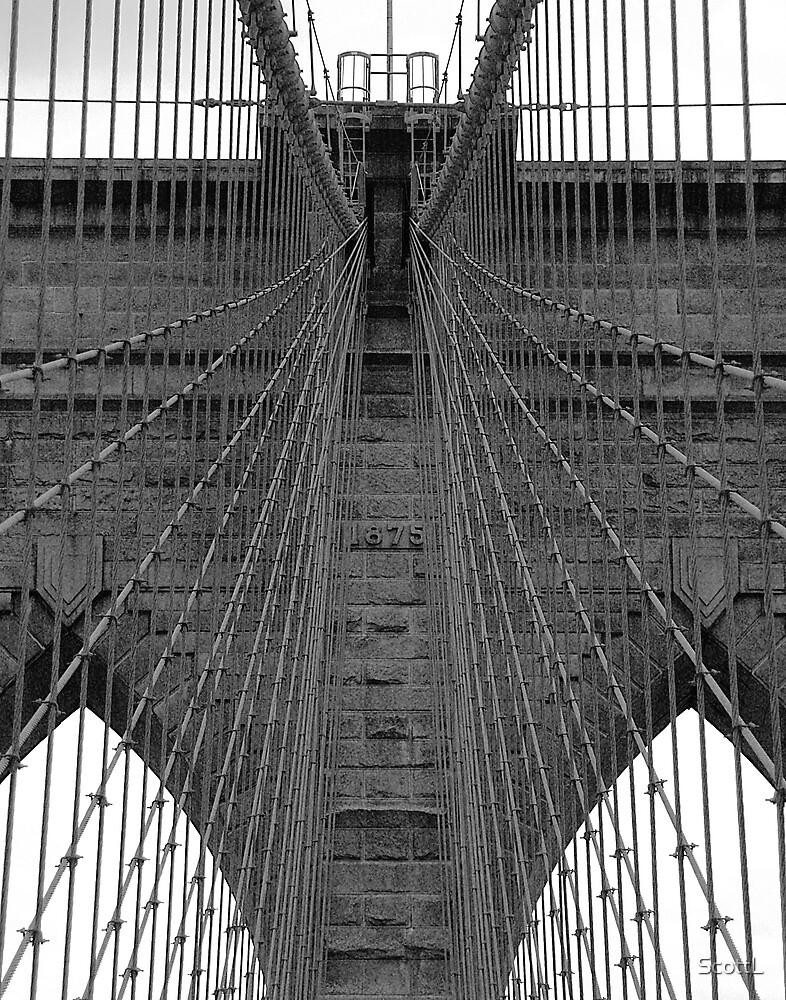 Brooklyn Bridge - Aged Beauty by ScottL