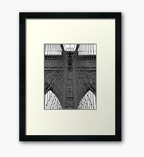 Brooklyn Bridge - Aged Beauty Framed Print