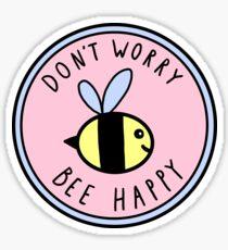 Mach dir keine Sorgen Biene glücklich Sticker
