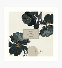 We live and breathe words. - Will Herondale. The Infernal Devices. Art Print