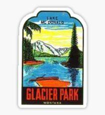 Glacier National Park Lake McDonald Vintage Travel Decal Sticker