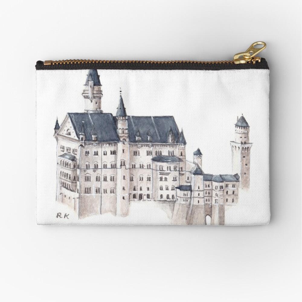 Castillo de Neuschwanstein Acuarela Bolsos de mano