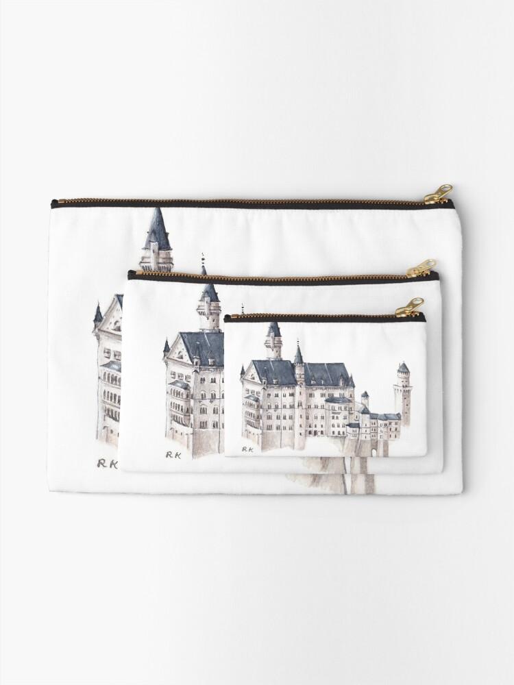 Vista alternativa de Bolsos de mano Castillo de Neuschwanstein Acuarela