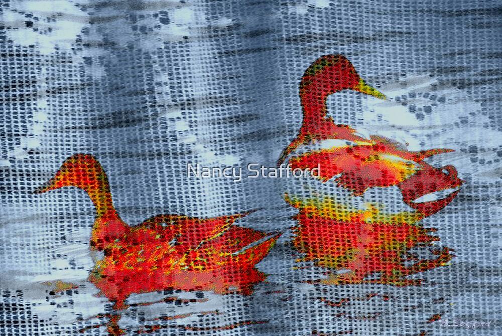 Mallard Ducks Design by Nancy Stafford