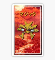 Alakazam Print Sticker