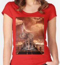 Cute baby elephant Women's Fitted Scoop T-Shirt