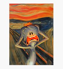 meeseeks the scream rick and morty Photographic Print