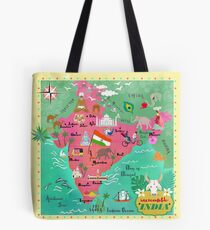 India Map-illustrated Tote Bag