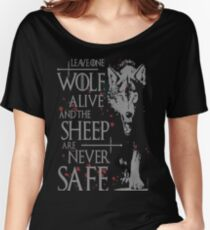 Thrones wolf t-shirt best quote Women's Relaxed Fit T-Shirt