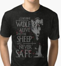 Thrones wolf t-shirt best quote Tri-blend T-Shirt