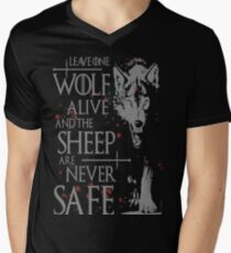 Thrones wolf t-shirt best quote Men's V-Neck T-Shirt