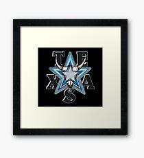Lone Star Skull - Blk. Bkg. Framed Print