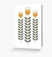Minimalist flowers Greeting Card