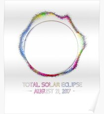 Colorful Total Solar Eclipse August 2017 Cool Gift Poster