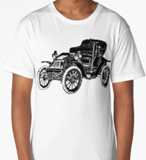 Old Vintage Antique Car Drawing #2 Long T-Shirt