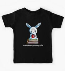 Student Rabbit With Coffee Funny School Monday Books Kids Clothes