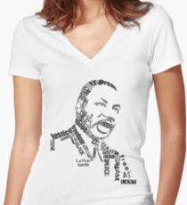 Dr. King Women's Fitted V-Neck T-Shirt