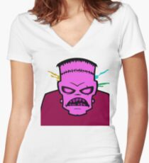 Pinkystein Women's Fitted V-Neck T-Shirt