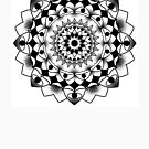 Mandala BW by ReeDraws