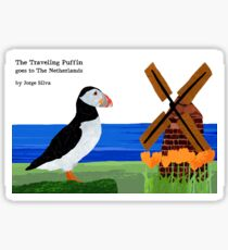 The Traveling Puffin Sticker