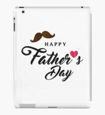 Happy fathers day Tshirt i love iPad Case/Skin