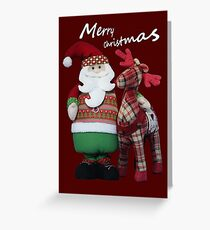 Santa loves Rudolf! (with greeting) Greeting Card