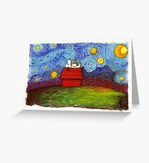 Snoopy x Starry Night Grußkarte