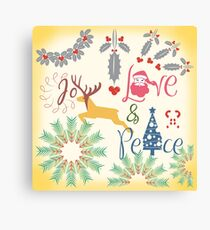 Christmas Joy Love Peace Canvas Print