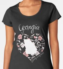 Georgia - Always In My Heart (Pastel Color Version) Women's Premium T-Shirt