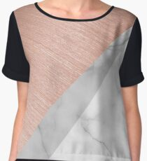 Rose Gold and Marble Women's Chiffon Top