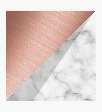 Rose Gold and Marble Photographic Print