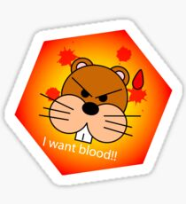 Beavers and Blood Sticker
